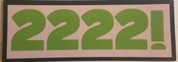 "Show your support for Gorilla Airsoft Radio with a 2222! sticker. 4"" x 1.5"" Free shipping anywhere in the world."