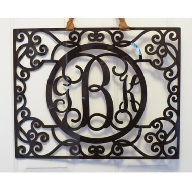 Filigree Acrylic Wall Monogram  www.tinytulip.com Brown Acrylic