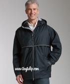 Monogrammed Mens Navy Raincoat Windjacket  www.tinytulip.com