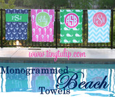 Personalized Beach Towel Monogrammed   www.tinytulip.com