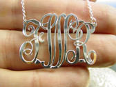 Sterling Silver Emma Font Monogrammed Necklace www.tinytulip.com