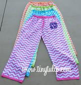 Monogrammed Chevron Lounge Pajama Pants  www.tinytulip.com