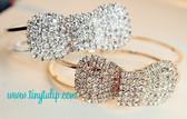 Rhinestone Bow Bracelet  Free Shipping  www.tinytulip.com