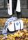 Monogrammed Navy Classic Satchel Duffle Travel Bag www.tinytulip.com Navy Circle Font