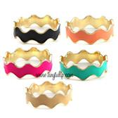 Wave Bangle Bracelet www.tinytulip.com