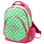 Monogrammed Preppy Tile Pattern Academy Backpack www.tinytulip.com Lime Green with Hot Pink Flirty Font