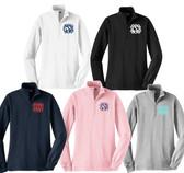 Monogrammed Quarter Zip Pullover Sweatshirt www.tinytulip.com