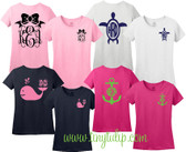 Double Monogrammed Design T-Shirt www.tinytulip.com