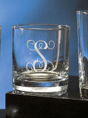 Monogrammed 11 ounce Engraved Executive Rocks Glass www.tinytulip.com