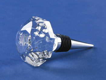 Monogrammed Crystal Wine Stopper Engraved www.tinytulip.com