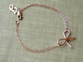 Sterling Silver or Gold Filled Bow Bracelet www.tinytulip.com