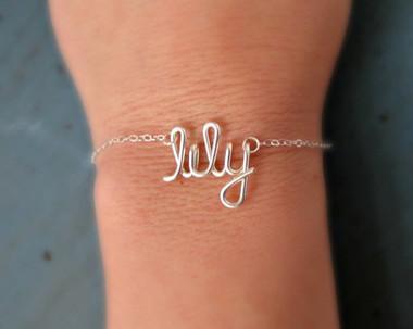 Sterling Silver or Gold Filled Name Bracelet www.tinytulip.com