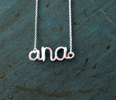 Sterling Silver or Gold Filled Name Necklace www.tinytulip.com