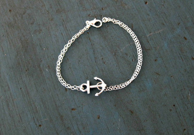 Silver or Gold Filled Nautical Anchor Bracelet www.tinytulip.com
