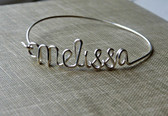 Sterling Silver Name Bangle www.tinytulip.com