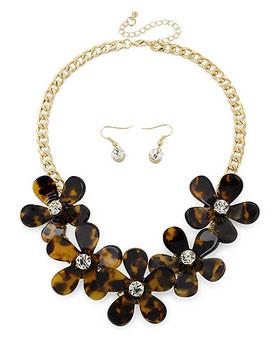 Tortoise Flower Necklace www.tinytulip.com