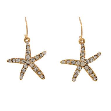 Rhinestone Starfish Earrings www.tinytulip.com