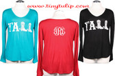 Monogrammed Y'All Shirt www.tinytulip.com
