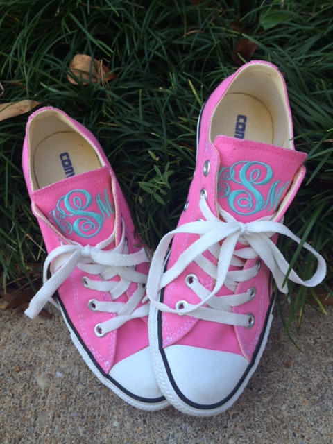 Hover over image to zoom. Monogrammed Converse ... bbd4afe86