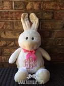 Monogrammed Bunny Plush www.tinytulip.com