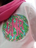 Monogrammed Lilly Pulitzer Raggy Circle T Shirt