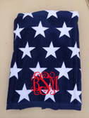 Monogrammed Star Towel www.tinytulip.com Red Interlocking Font