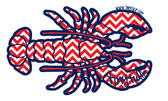 Tiny Tulip Preppy Stickers Chevron Lobster  www.tinytulip.com
