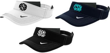 Monogrammed Nike Visor www.tinytulip.com
