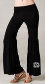 Monogrammed Jersey Ruffle Pants