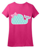 Monogrammed Tiny Tulip Preppy Anchor  Whale Tshirt