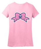 Monogrammed Tiny Tulip Preppy Tile Bow Tshirt