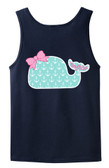 Monogrammed Tiny Tulip Preppy Anchor Whale Bro Tank