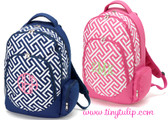 Monogrammed Greek Key Backpack www.tinytulip.com