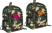 Monogrammed Camo Backpack www.tinytulip.com