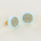Gold Post Acrylic Monogram Earrings www.tinytulip.com