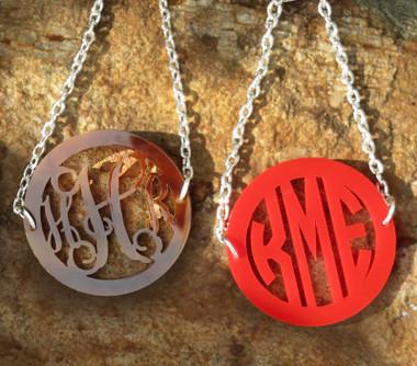 Bordered Acrylic Monogram Bracelet www.tinytulip.com