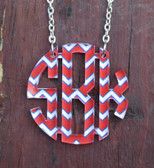 Floating Chevron Monogram Necklace www.tinytulip.com