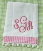 Monogrammed Burp Cloth