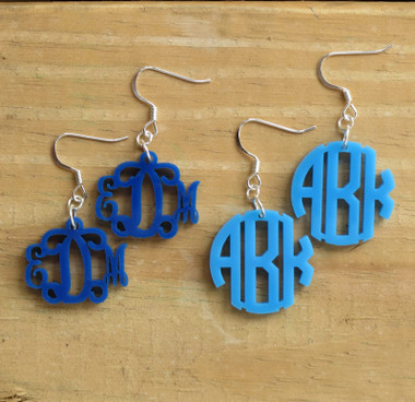 Monogram Acrylic Earrings www.tinytulip.com
