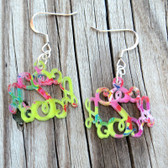 Pattern Monogram Acrylic Earrings www.tinytulip.com