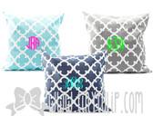 Monogrammed Quatrefoil Pillow