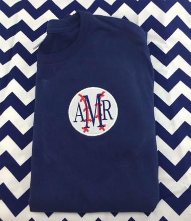 Monogrammed Baseball Shirt www.tinytulip.com