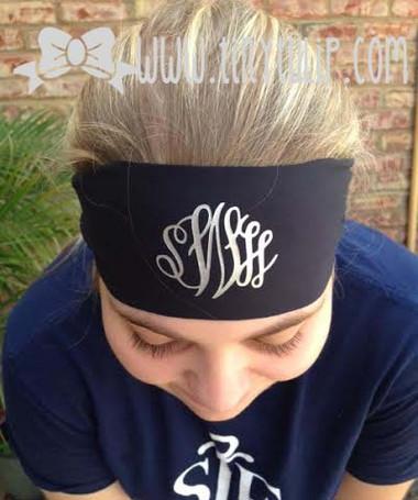 Monogrammed Dri Fit Headband www.tinytulip.com