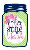 Tiny Tulip Preppy Stickers Mason Jar  www.tinytulip.com