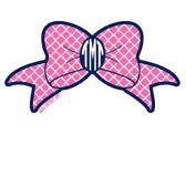 Tiny Tulip Preppy Stickers Quatrefoil Bow www.tinytulip.com