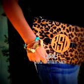 Monogrammed Leopard Print Harper Bag www.tinytulip.com