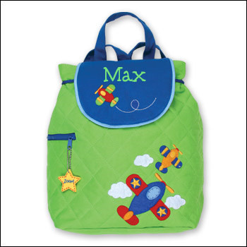 Airplane Backpack with Green 5th Grader Font