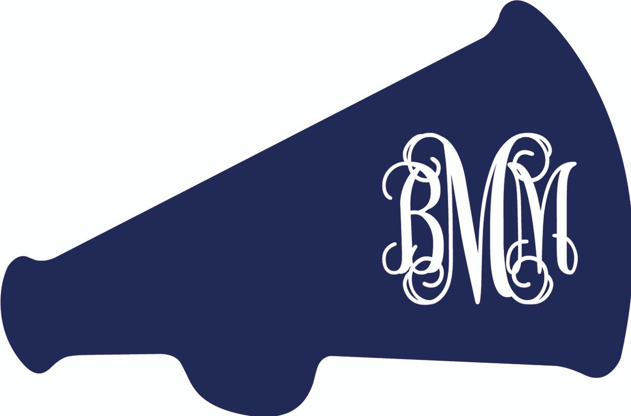 monogrammed megaphone vinyl sticker