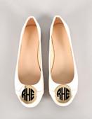 Monogrammed Ballet Flats www.tinytulip.com Black Circle Font