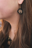 Monogram Engraved Earrings www.tinytulip.com